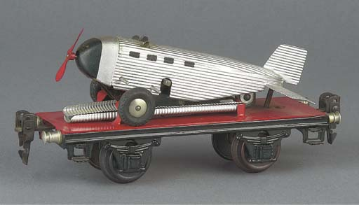 A Märklin 16.5cm. 1708 special load wagon with Ju52 aeroplane load