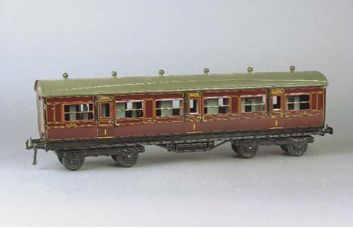 Bing for Bassett-Lowke Gauge I bogie LMS 1921 stock Side Corridor Coaches