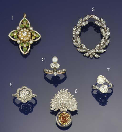 An Edwardian, diamond, half-pe