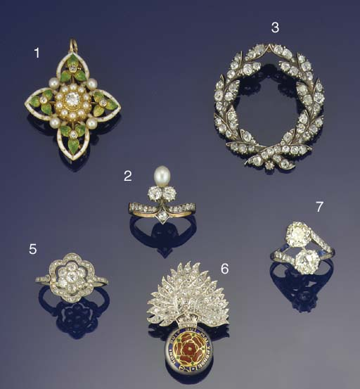 An Edwardian diamond cluster r