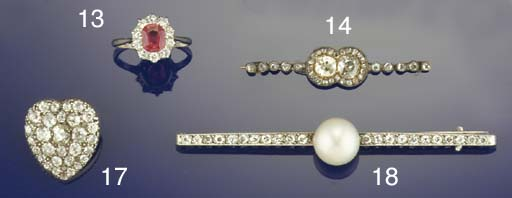 A late Victorian diamond heart