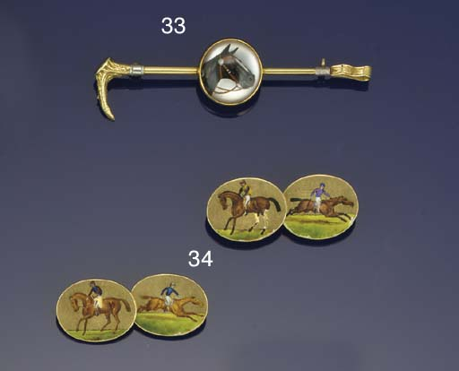 A pair of Victorian 18ct. gold