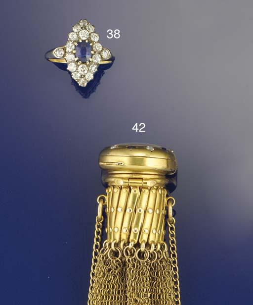 A gold, diamond and sapphire p