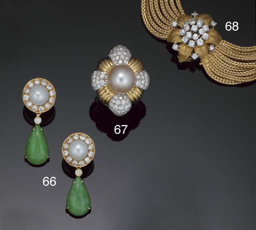 An 18ct. gold, diamond bracele