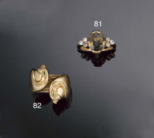 An 18ct. gold ring by Cartier