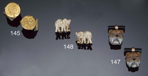A pair of cufflinks by Cartier