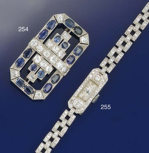 A lady's Art Deco diamond wris