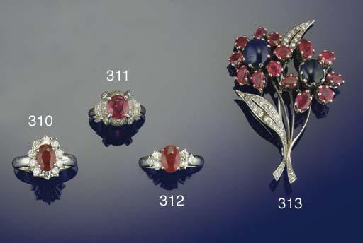 A ruby, sapphire and diamond f
