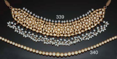 A light golden pearl necklace