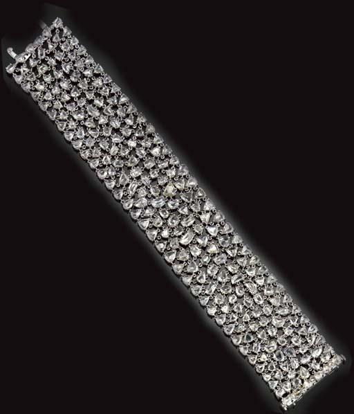 An impressive diamond bracelet