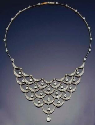 An fine Belle Epoque diamond n