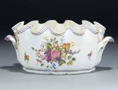 A SEVRES TWO-HANDLED MONTEITH