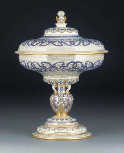 A SEVRES CUP AND COVER