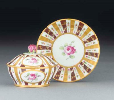 A RUSSIAN PORCELAIN CYLINDRICA