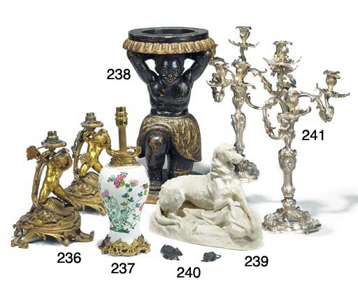 A pair of ormolu table lamp bases