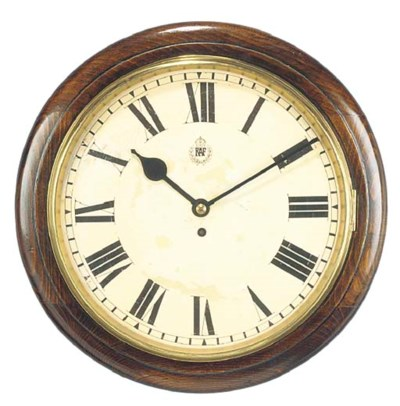An English oak RAF dial timepi
