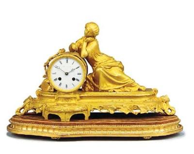 A Napoleon III ormolu striking