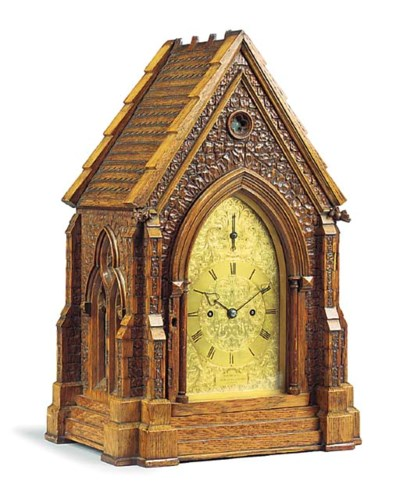 A Victorian carved oak Gothic