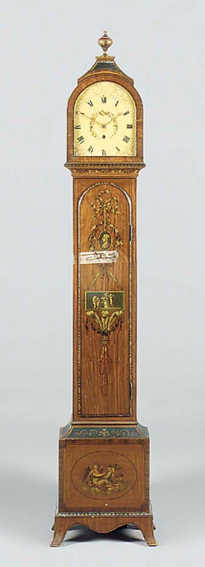 An English small satinwood and