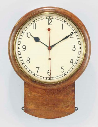 An English oak drop dial wall