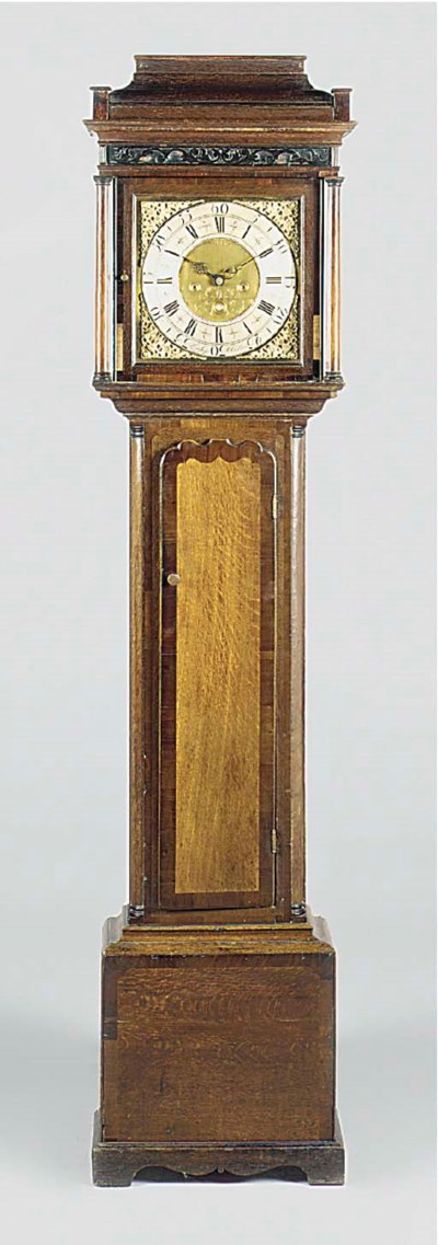 A George II oak thirty-hour lo