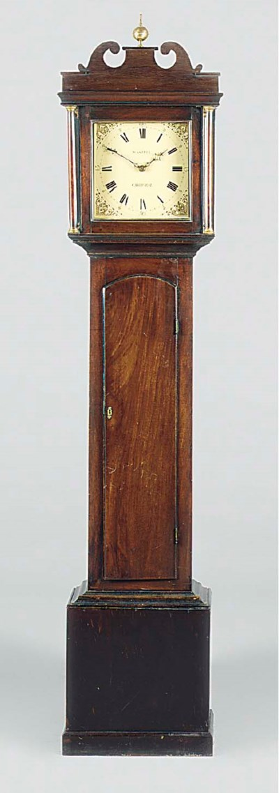 A George III mahogany thirty-h
