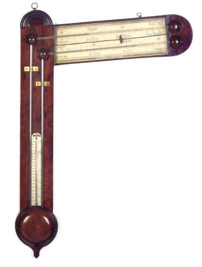 A Regency mahogany angled tube