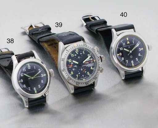 International Watch Co. A Stainless Steel Military Aviator Centre Seconds anti-magnetic wristwatch