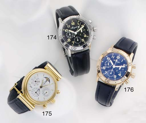 International Watch Co. An 18ct Gold Automatic Perpetual Calendar Wristwatch with Chronograph