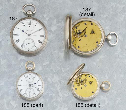 Mercer. A Silver Open Face Pocket Chronometer Watch