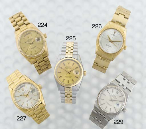 Rolex. An 18ct Gold Water Resistant Automatic Centre Seconds and Calendar Wristwatch