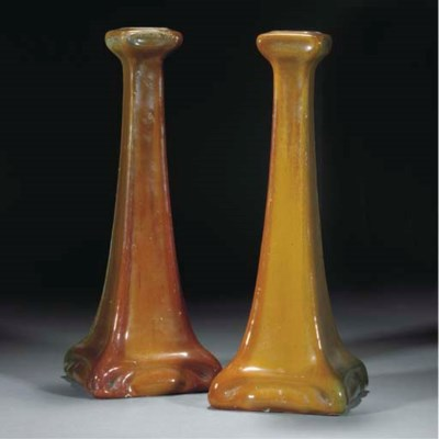 A PAIR OF CARTER'S LUSTRE CAND