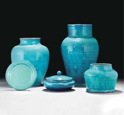 A CSA CHINESE BLUE GLAZED VASE