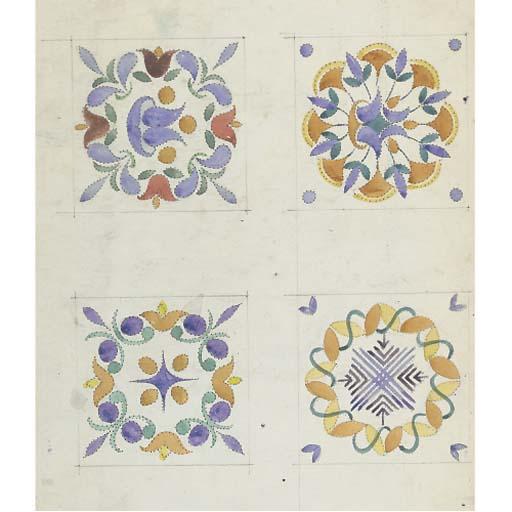 Seven Fish Tile Pattern Design