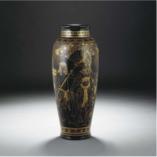 A POOLE POTTERY VASE THROWN BY