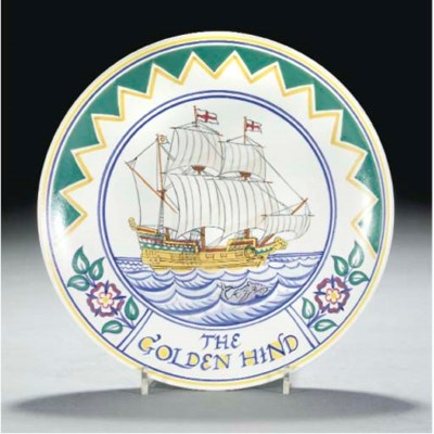 A POOLE POTTERY GOLDEN HIND PL