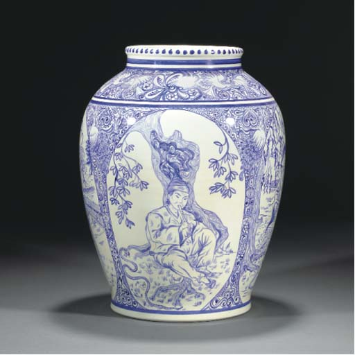 A POOLE POTTERY VASE BY RJ HIC