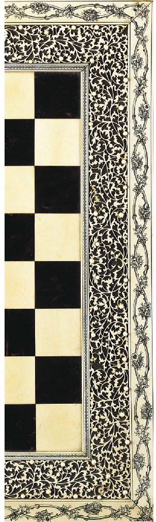 An Indian ivory and tortoisesh