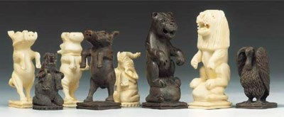 A South African carved ivory a