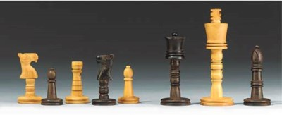 A Continental wood chess set