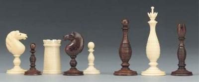 An ivory chess set