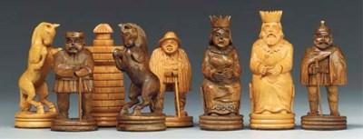 A German carved wood figural c