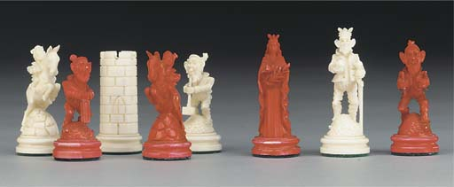 A German carved ivory figural