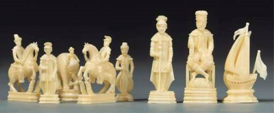 A Russian walrus ivory figural