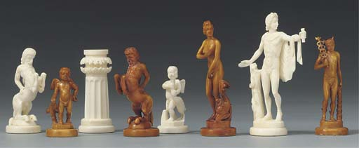 A German ivory figural chess s