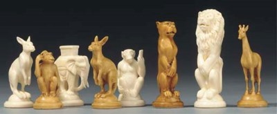 German carved ivory animalier
