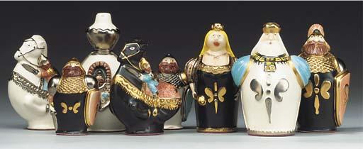 An Italian porcelain figural c
