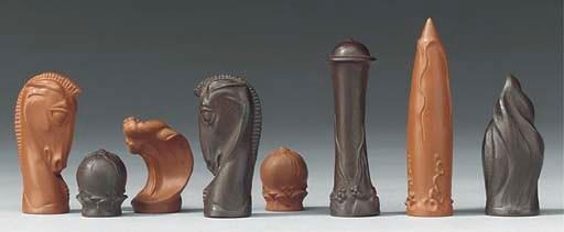 A Meissen stoneware futuristic