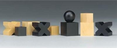 A German Bauhaus wood chess se
