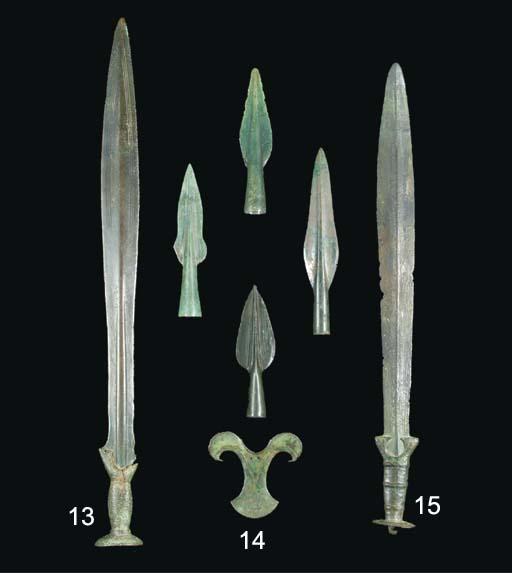 A EUROPEAN BRONZE AGE SWORD